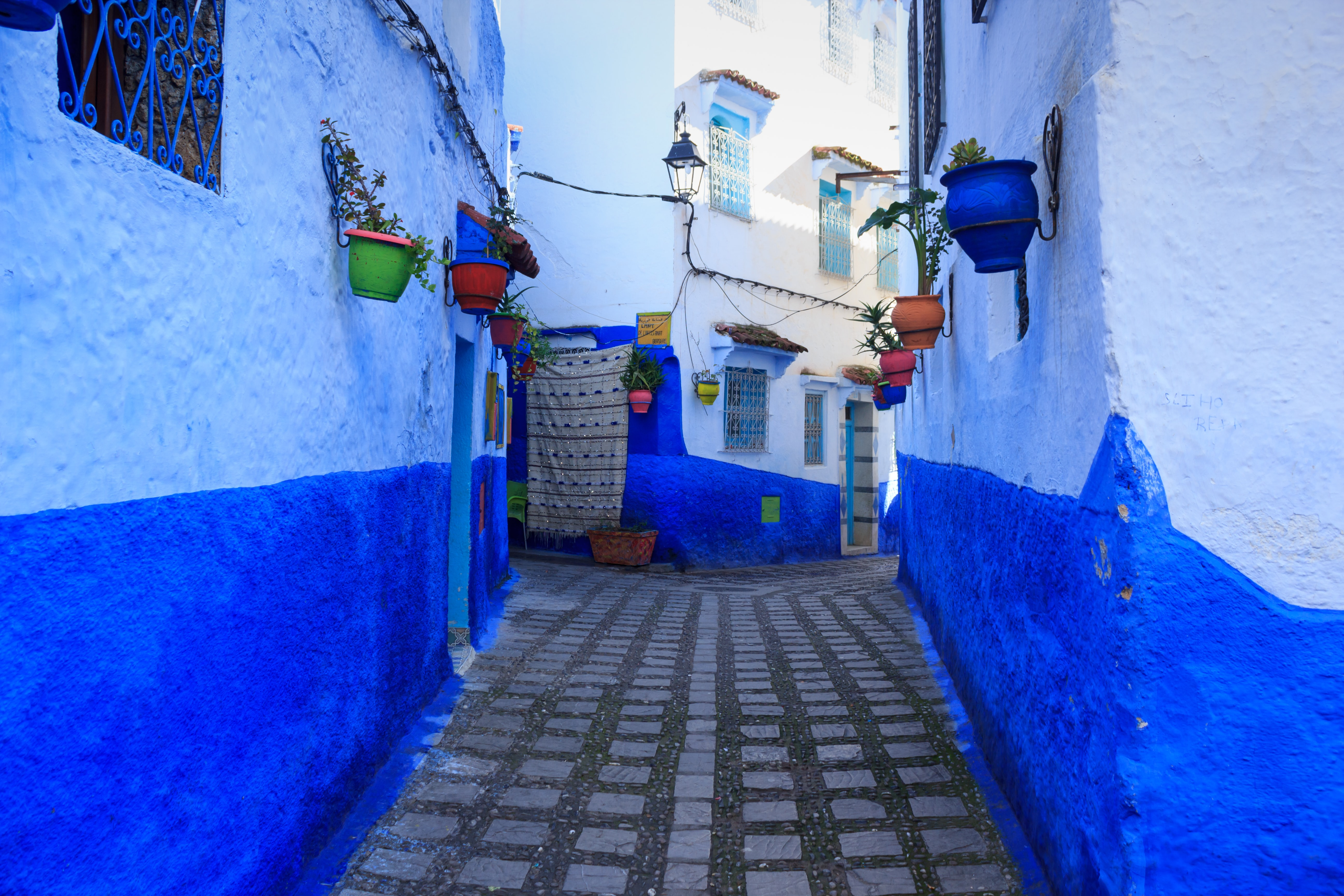 The blue city in Morocco.